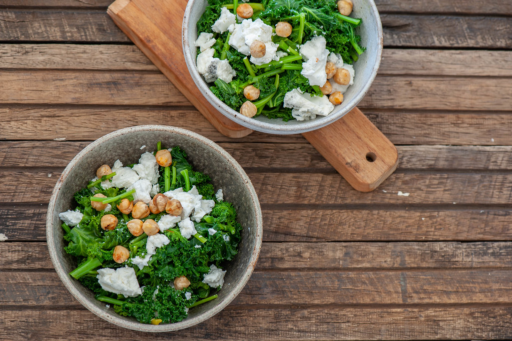 Kale & Goats Cheese Bowls