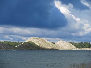 Aidu tranšee / Flooded trench in Aidu surface mine in Estonia