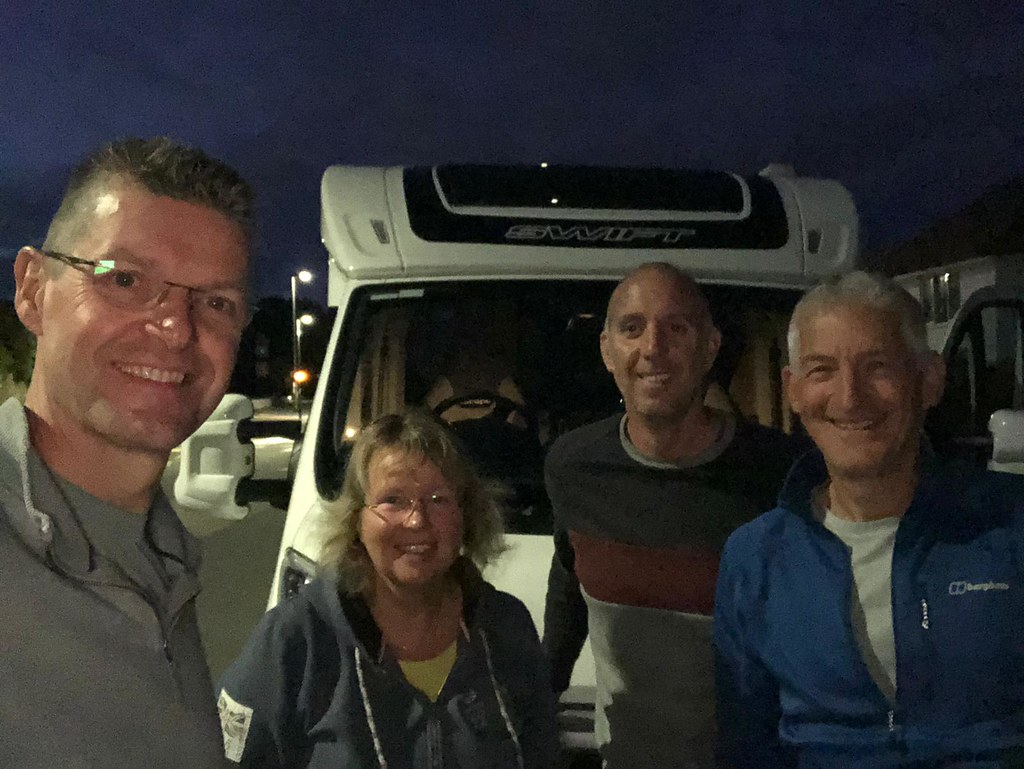 Setting off from Devon in the motorhome at 6am