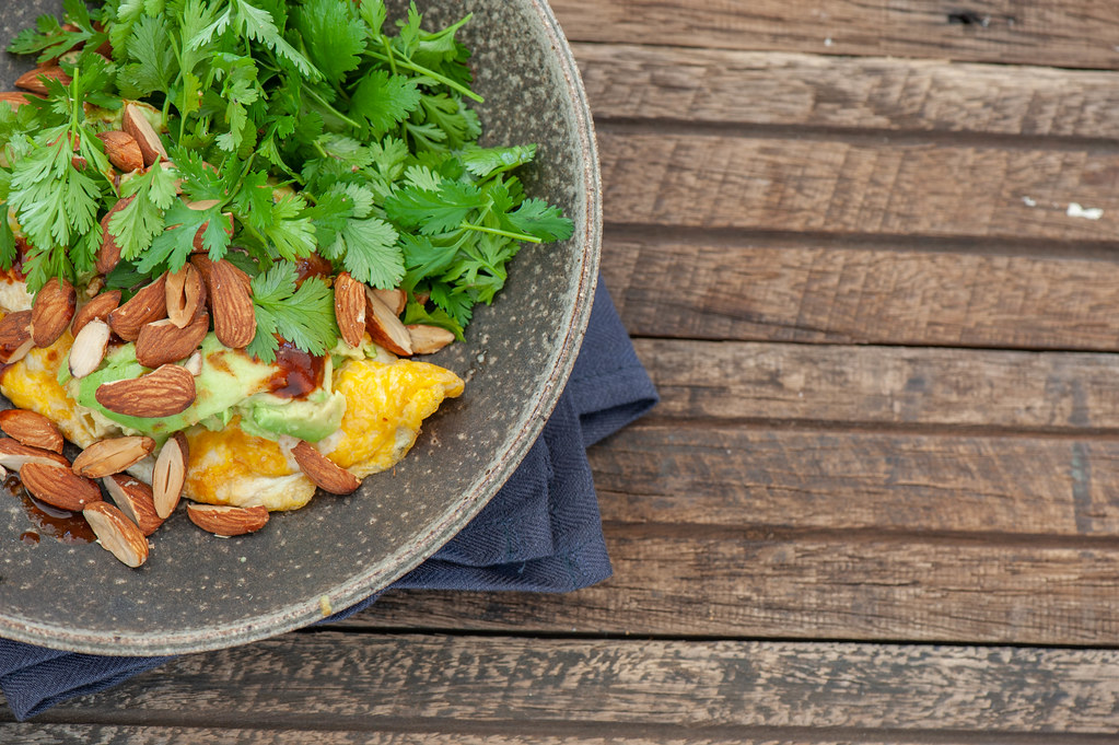 Mexican Omelette with Smashed Avo