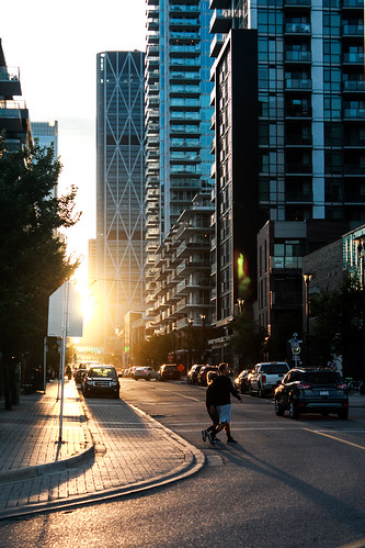 sunset golden alberta sun summer calgary downtown skyscraper urban