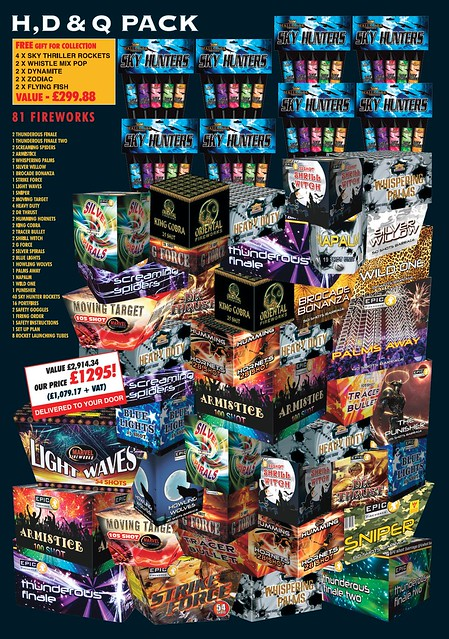 NEW FOR 2019 - HDQ Fireworks Selection Pack