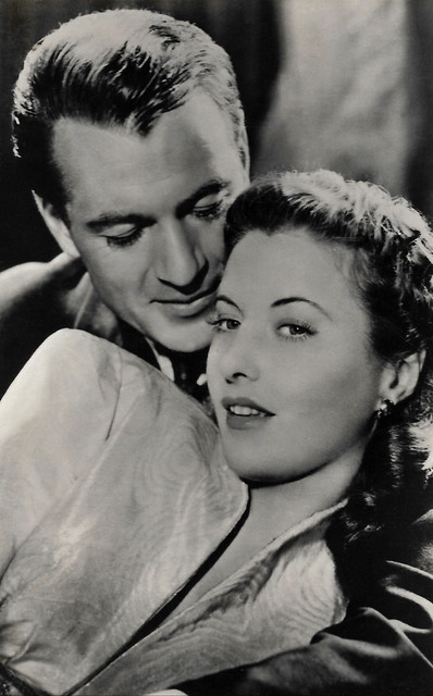 Barbara Stanwyck and Gary Cooper in Ball of Fire (1941).