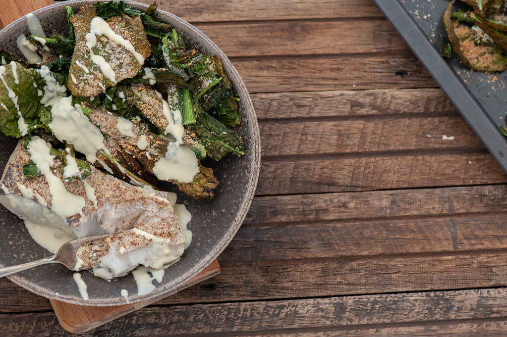 Baked Fish + Kale Chips-2