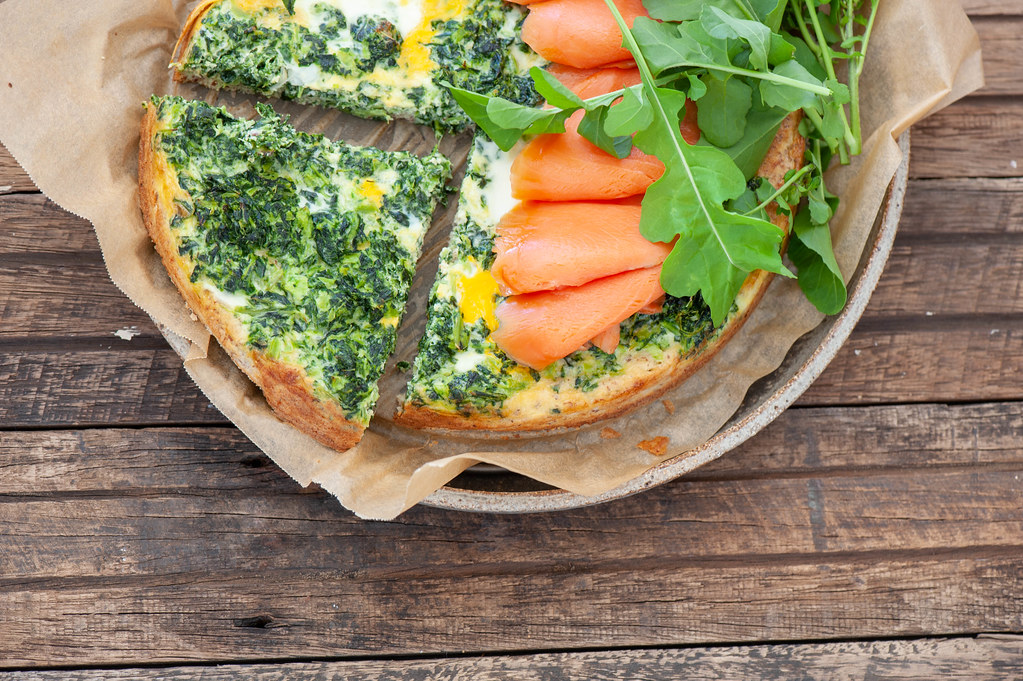 Super Easy Smoked Salmon + Spinach Tart-2