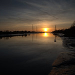 Scenic sunset at the Ribble by Preston