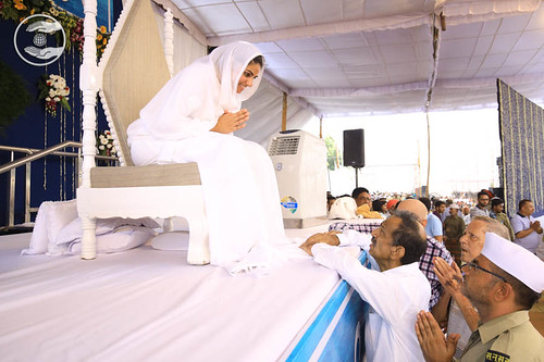 Devotees seeking blessing for welfare
