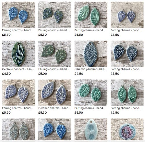 earring charms and ceramic pendants