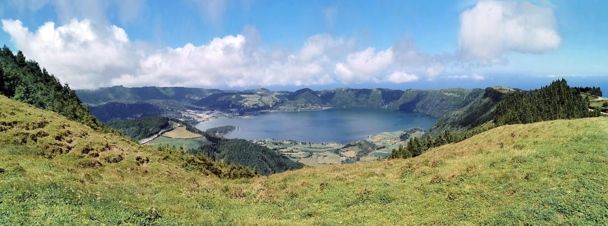 Mirador da Boca do Inferno Lagoa das Sete Cidades Lagoa Azul y Verde Serra Devassa Isla de San Miguel Azores Portugal