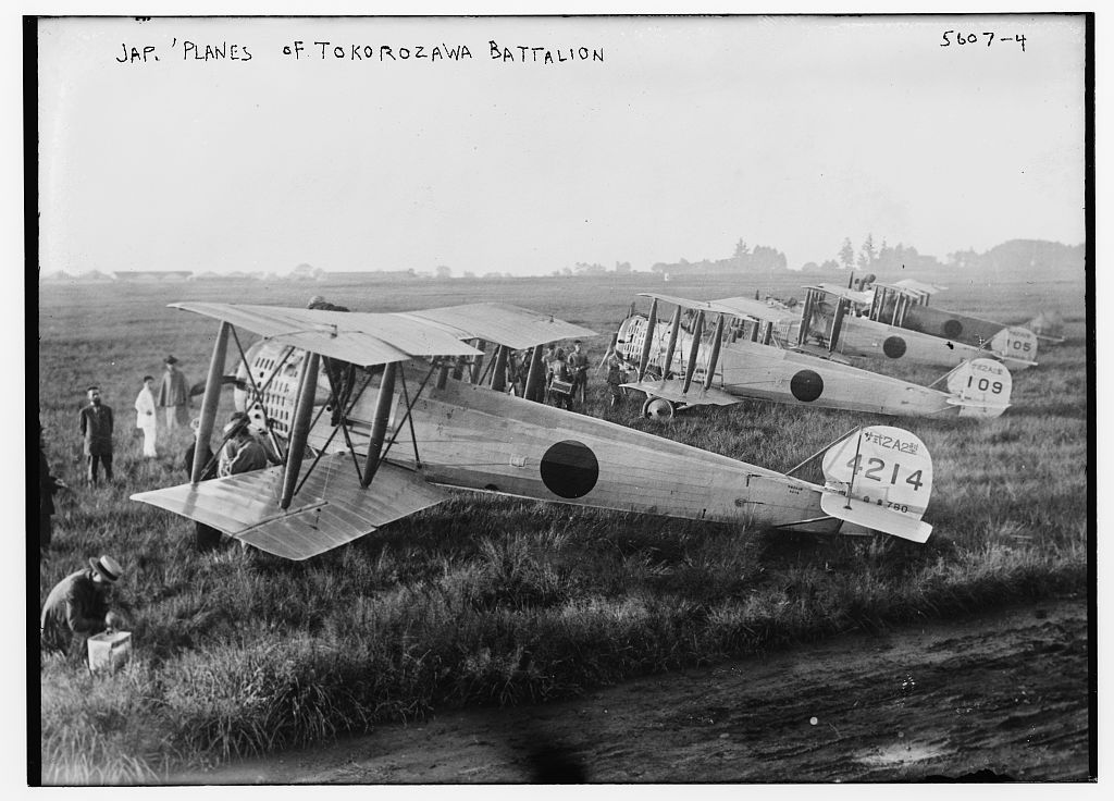 Jap[anese] planes of Tokorozawa Battalion (LOC)