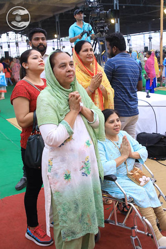 Saints seeking blessings for welfare