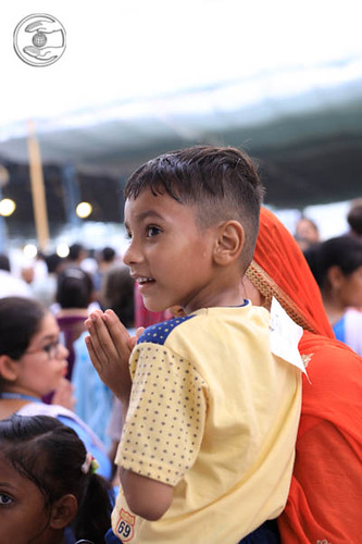 Child devotee seeking blessings