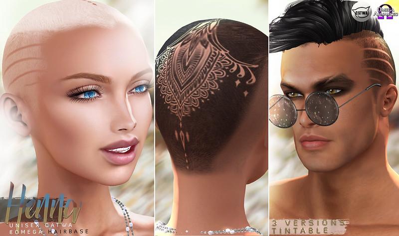 -Birth- 'Henna' Catwa and Omega Hairbase Advert @ Mainstore