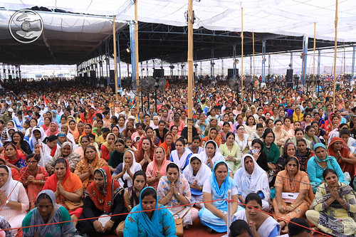 A view of congregation during the Samagam