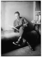 Bonelli [seated in bed, reading] (LOC)