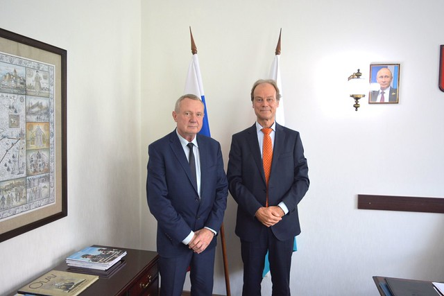 13 сентября 2019 г. Встреча со вновь назначенным Генеральным консулом ФРГ в Калининграде Х.Маттерном