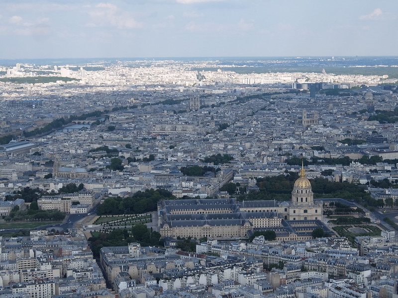 Париж - Эйфелева башня - Вид на Дом инвалидов