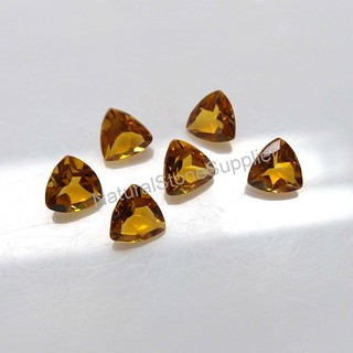 Natural Yellow Citrine Trillion Faceted Cut Calibrated Size 4 mm To 9 mm Loose Citrine Gemstone Making Jewelry