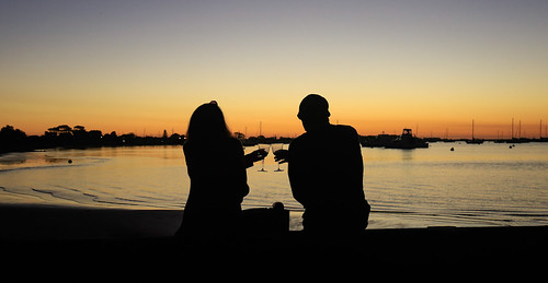 love sunset dark light silhouette couple wine drinking