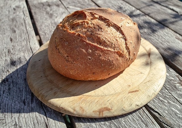 Home milled wheat and rye with Linseed