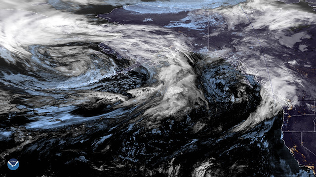 Low-pressure System, Remnants of Two Typhoons Deliver Rain to Alaska