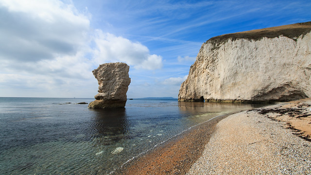 Walking below Bat's Head, Dorset