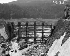 Boundary Dam under construction, 1966