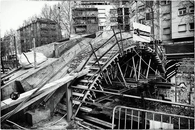 Reconstrucció del Pont del Dimoni - Girona