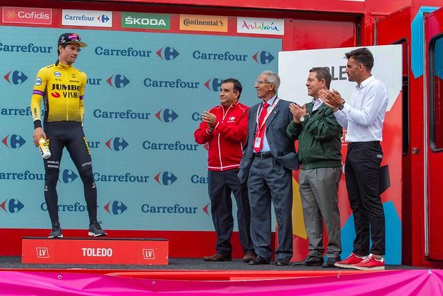 El presidente asiste a la llegada de la 19 Etapa de la Vuelta Ciclista a España