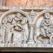 Duomo - Piacenza Portale di destra - presentazione al tempio  e fuga in Egitto