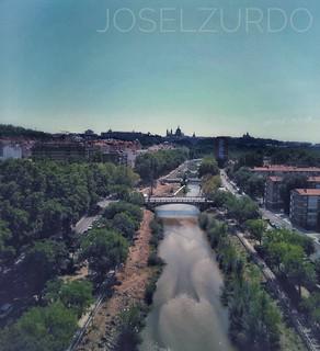 Río Manzanares así paso por la villa de Madrid