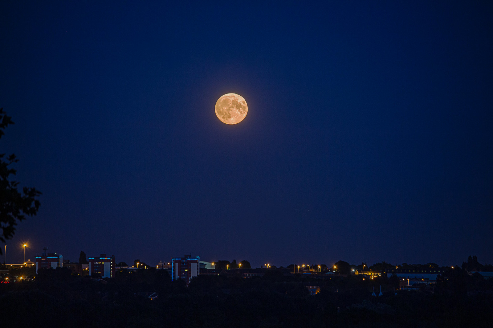 HDR Harvest Moon over Wolverhampton 13 September 2019