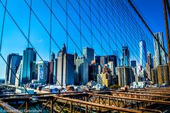 Brooklyn Bridge over Wall Street