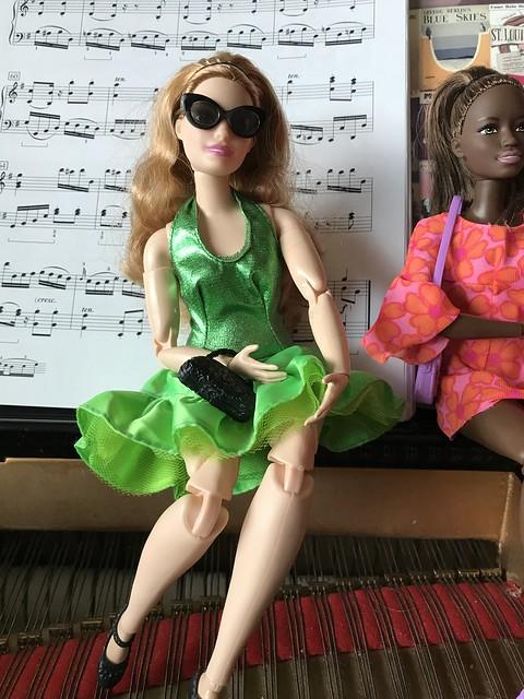 green dance dress