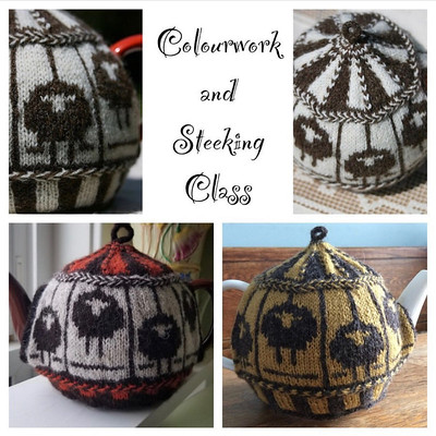 Register and take this class - learn and practice stranded colourwork; steeking - cutting your work, oh my!; vikkel braids; corrugated ribbing; I-cords...This class starts soon so don't miss out!