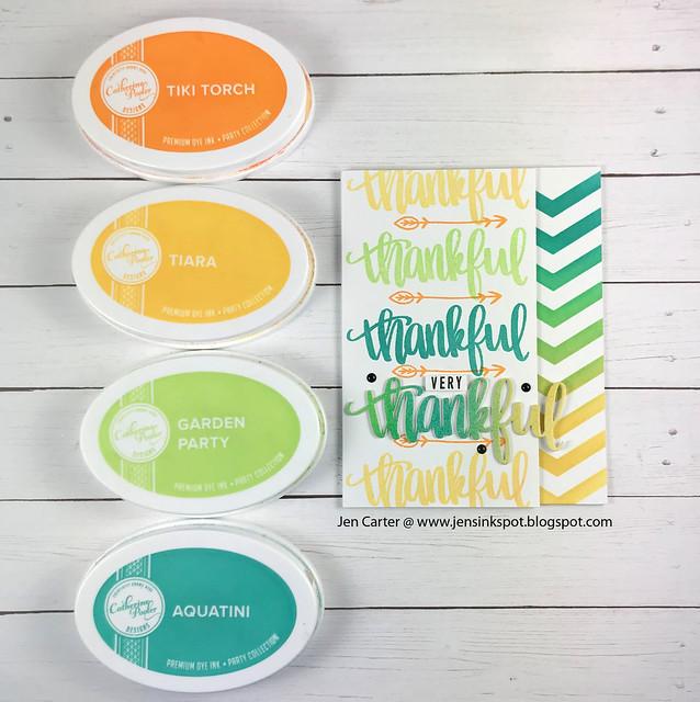 Jen Carter CP Thankful Blessings Geo Trio Stencil 1 Color