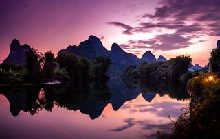 Yangshuo still waters