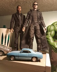 """12"""" Action figures of #KeanuReeves as #JohnWick and #Neo #HotToys #kitbash  #12inchactionfigure"""