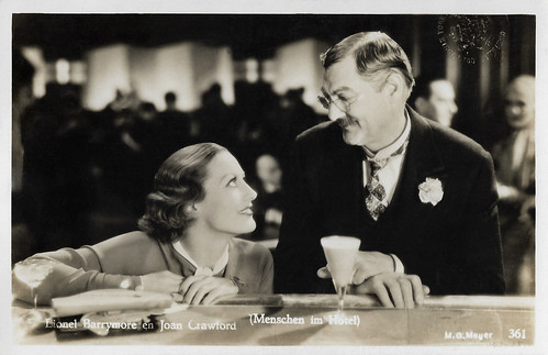 Joan Crawford and Lionel Barrymore in Grand Hotel (1932)