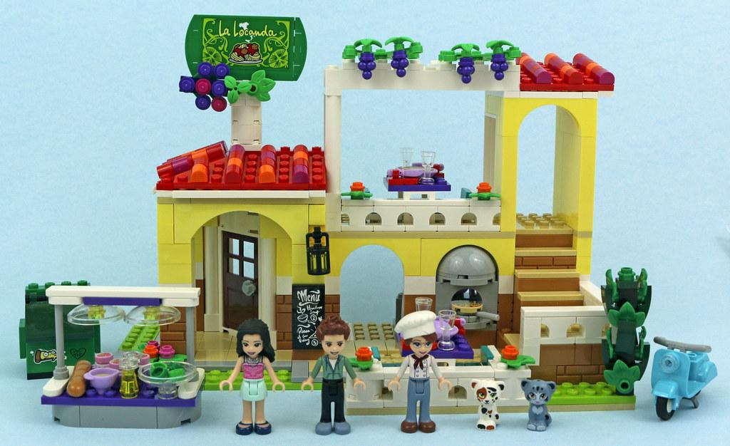 FROM SET 41333 LEGO FRIENDS WHITE CAT WITH DARK ORANGE /& BLACK PATCHES VEGA
