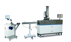 The new TwinLab-C 20/40 twin-screw extruder is controlled