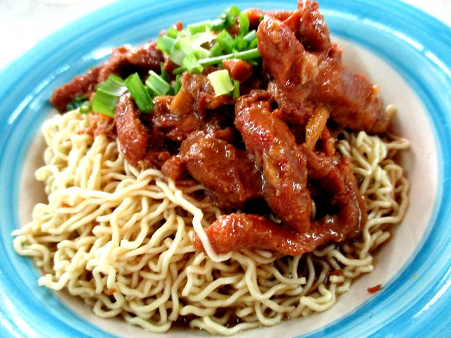 Ginger pork noodles