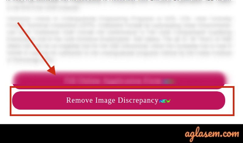 Remove Image Discrepancy of JEE Main 2020