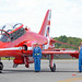 RAF Red Arrow and ground crew