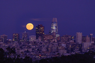 Full Moon over SF Skyline