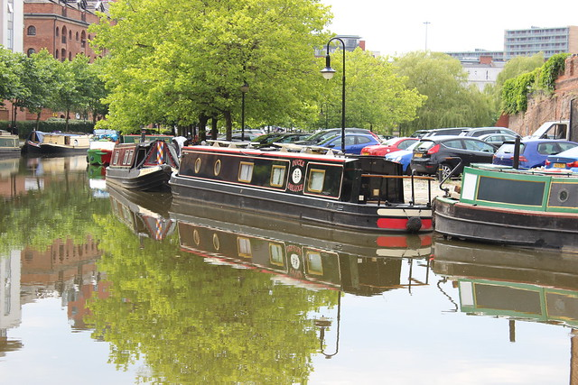 Narrowboats in Manchester