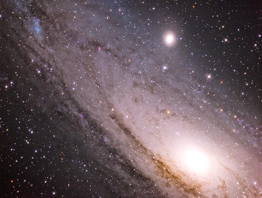 Closeup on M31, the big andromeda galaxy
