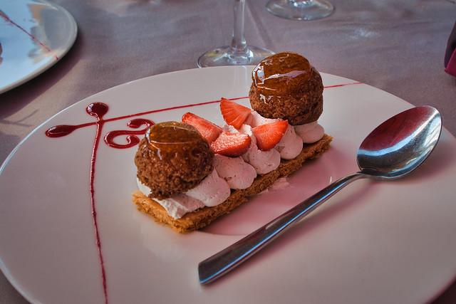 Delicieux gâteau aux fraises