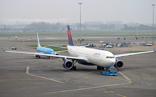 "Delta Air Lines N802NW Airbus A330-323 cn/533 ""3302"" @ EHAM / AMS 08-11-2017"