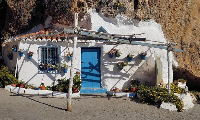 A cave house at the Calahonda beach, Spain